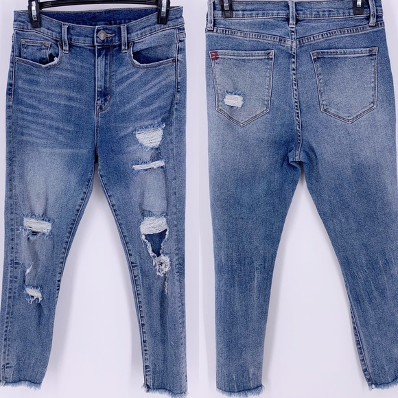 BDG Denim - BDG Crop Twig High Waist Raw Hem Jeans Sz 28